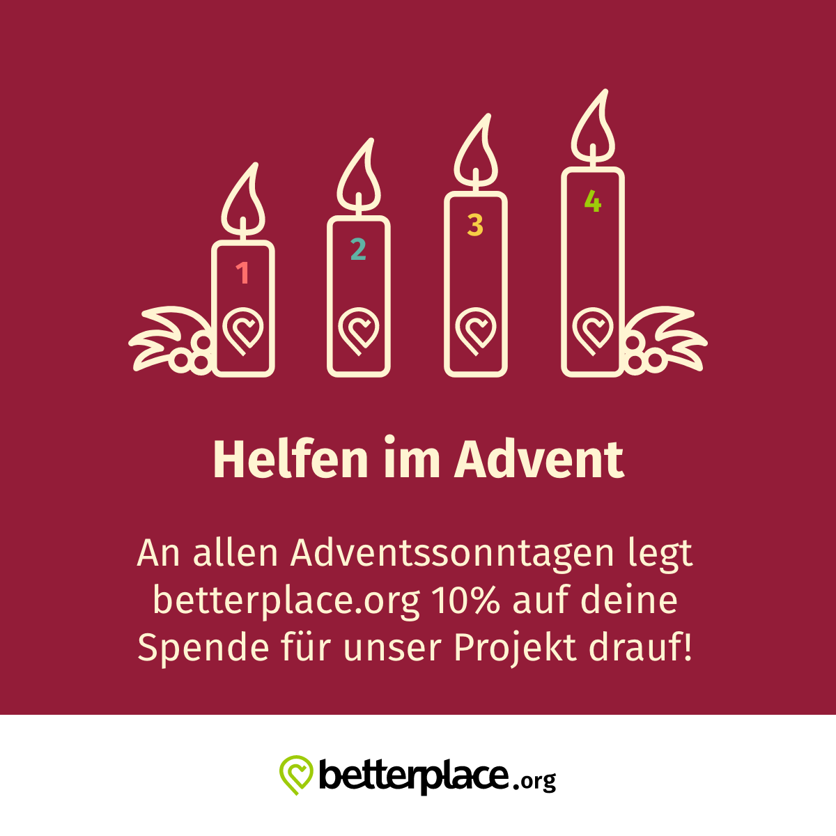 betterplace Adventskranz share